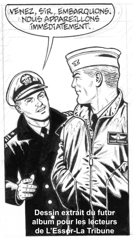 Francis Bergèse et son héros Buck Danny